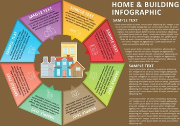 Home & Building Infographic - бесплатный vector #273271