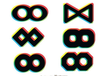 Infintine Loop Multicolor Icons - Kostenloses vector #273331