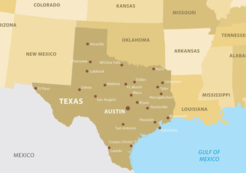 Texas Map - vector #273361 gratis