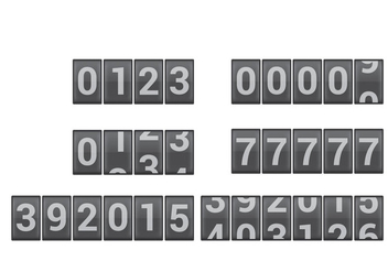 Number counter vectors - Free vector #273381