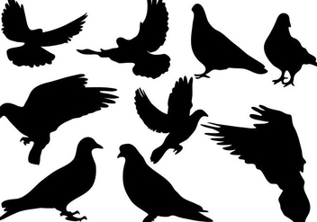 Free Pigeon Silhouette Vector - Free vector #273421