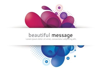 Colorful Swirls White Ribbon Message - vector #273441 gratis