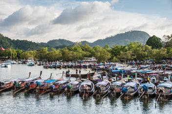 Fishing boats on berth - image #273531 gratis