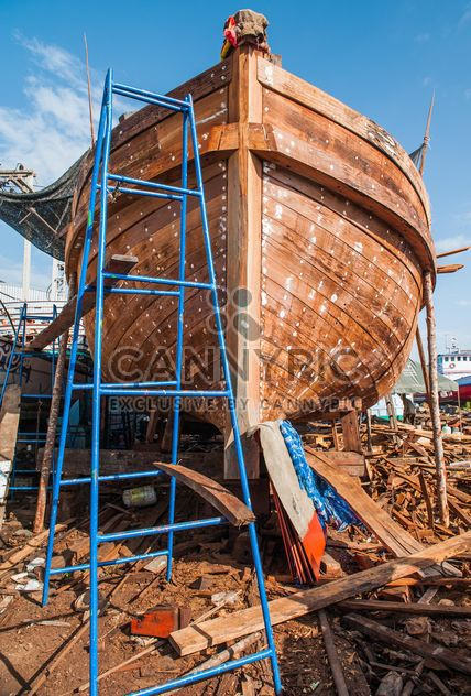 restauration du bateau de pêche - image gratuit #273591