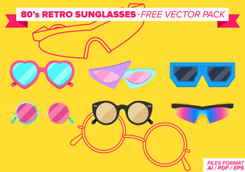 Eighties 80s Retros Sunglasses Free Vector Pack - Kostenloses vector #273951