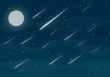 Meteor Shower Free Vector - Free vector #273961