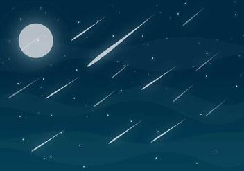 Meteor Shower Free Vector - Kostenloses vector #273961