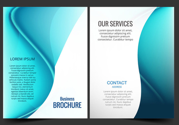 Blue business brochure - Free vector #274061