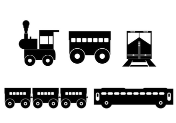 Vector train silhouette - vector gratuit #274071