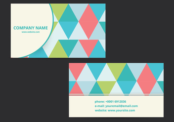 Modern business card design - vector #274101 gratis