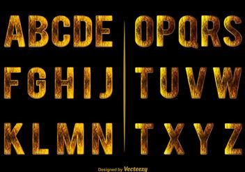 Elegant alphabet - Free vector #274121
