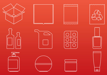 Packaging Icons - vector gratuit #274381