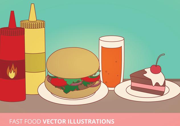 Fast Food Vector Illustrations - vector gratuit(e) #274421