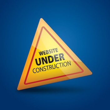 Website Under Construction Glossy Triangle - Free vector #274501