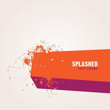 Grungy Splashed Message Background - vector #274511 gratis