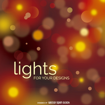 Bokeh blurry lights design - Free vector #274541