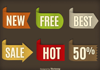 Sale labels - vector #274581 gratis