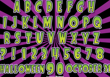 Halloween Alphabet Set - Free vector #274651