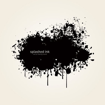 Black Splashed Ink Background - vector gratuit #274811