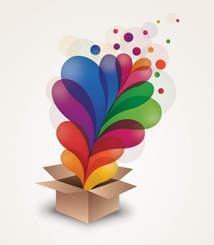 Splashed Swirls Surprise Box - Kostenloses vector #274821
