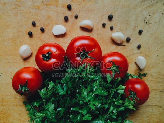 Tomatoes with garlic - Free image #274851