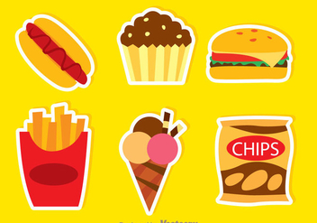 Fatty Food Colors Icons - Free vector #275131