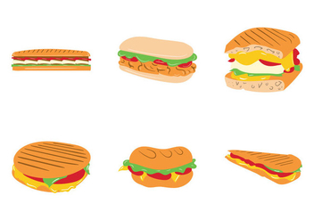 Free Panini Sandwich Vector Illustration - Free vector #275161