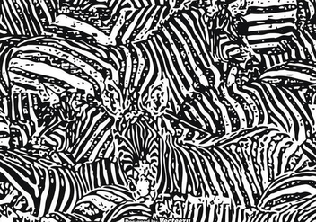 Free Vector Zebra Print Background - бесплатный vector #275251