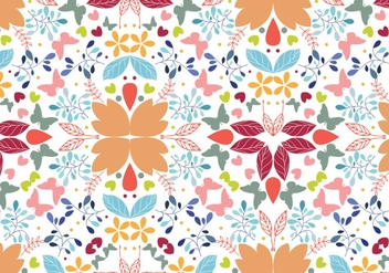 Seamless floral pattern background - Free vector #281061