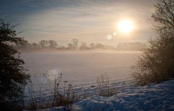 snowy sun rise - Free image #287551