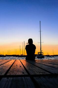 Newport Marina Sunset - image #289401 gratis