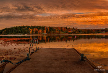 Sunset at a small pier in Danderyd, Stockholm - Free image #291261