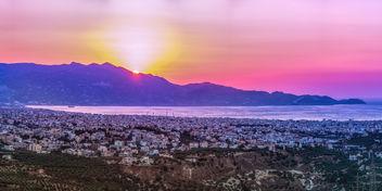 Heraklion at sunset - image #292851 gratis