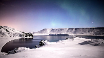 Kleifarvatn illuminated by the moon - бесплатный image #295261