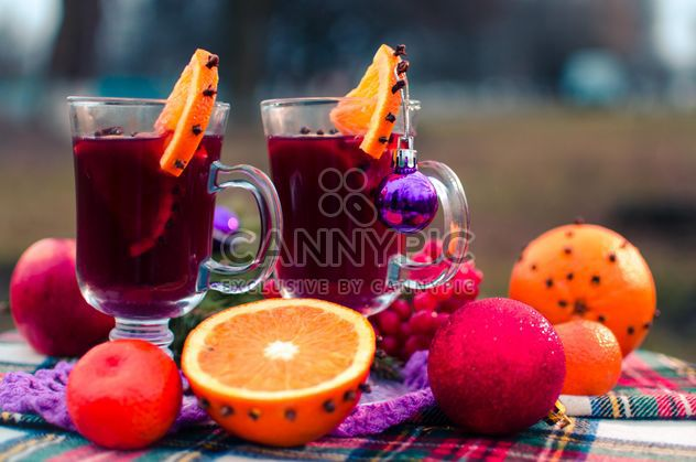 hot mulled wine in beautiful glasses - Free image #297531