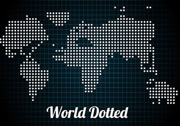 Free Dotted World Vector - vector gratuit #297721