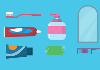Teeth Brushing Icon Set - Free vector #297751