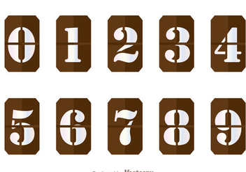 Brown Number Counter Vectors - vector gratuit #297941