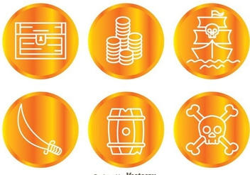 Treasure Hunter Coin Icons - vector gratuit #298001