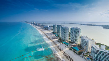 Cancun beach aerial - Luftbild - бесплатный image #299361