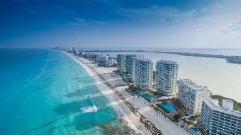 Cancun beach aerial - Luftbild - Free image #299361