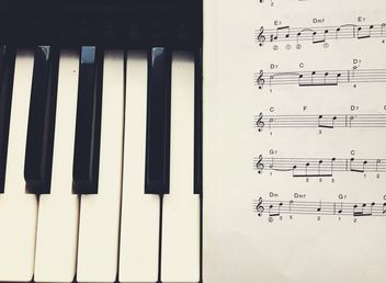 Notes and piano - image gratuit #301341