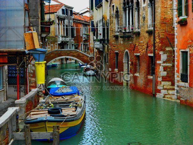 Gondola boat pier in Venice - Free image #301431