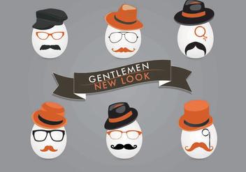 Gentleman Face Vectors - Free vector #301511