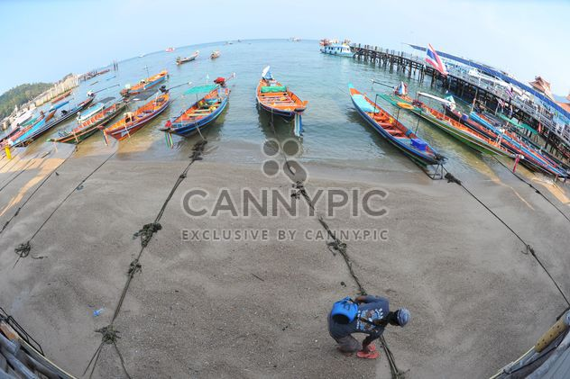 Рыбацкие лодки пришвартованы на побережье - бесплатный image #301581