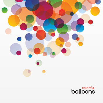 Colorful Bokeh Balloons Background - Free vector #301881