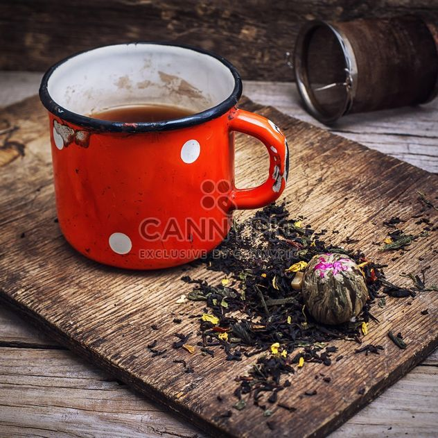 Tea on wooden background - Free image #302101