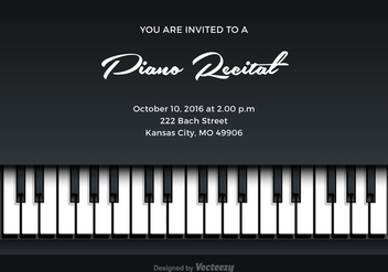 Free Piano Recital Vector Invitation - Kostenloses vector #302121