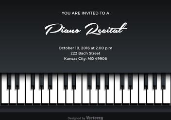 Free Piano Recital Vector Invitation - Free vector #302121