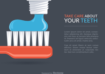 Free Dental Care Vector Background - vector gratuit #302131